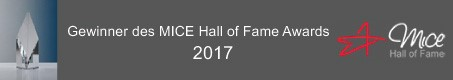 Gewinner des MICE Hall of Fame Awards 2017