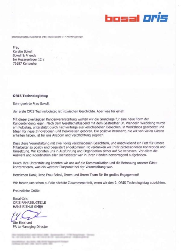 Oris Fahrzeugteile Hans Riehle GmbH Möglingen (Germany)